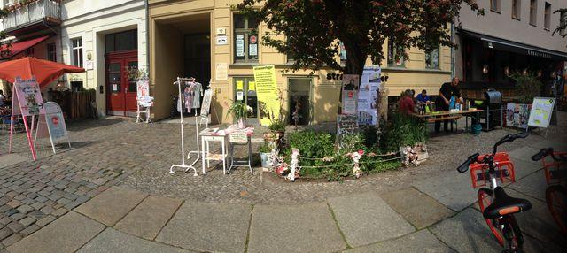 Im strassenfeger-Laden in der Oderberger 12 finden allerlei Veranstaltungen statt.